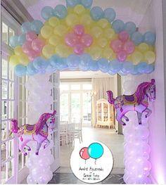 Ideas, decoración y manualidades para fiestas: Decora la entrada con globos para tu fiesta infantil