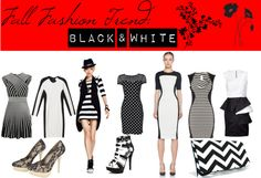 """""""Fall Fashion Trend: Black & White"""" by ltretail on Polyvore"""