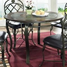 Slate Dining Table Round Slate Dining Table With Chairs - Dining table with slate inlay