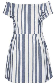 Striped denim with gorgeous femme lines.