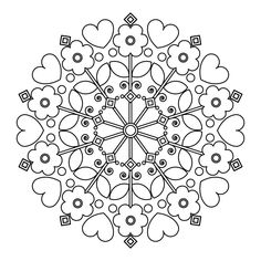 The contour of children's mandalas for coloring. Doodle Coloring, Mandala Coloring Pages, Free Coloring Pages, Coloring Books, Mandalas For Kids, Tangled Flower, Parchment Design, Icon Png, Printable Adult Coloring Pages