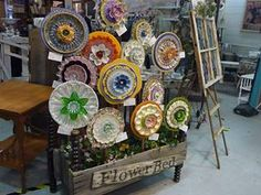 """The """"Plate Flower Bed""""."""
