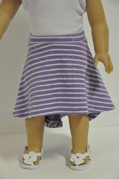 American Girl Doll Clothes Lavender and White by CircleCSewing