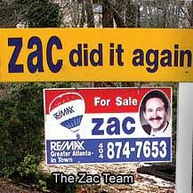 Real estate professions from the Zac Team understand the core values of the company founded by Atlanta Georgia's leading realtor Zac Pasmanick 25 years ago.