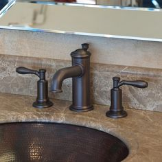 Stunning traditional brass faucet via Newport Brass