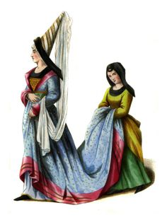 15th Century Fashion. Hennin= princess cone hats that started to appear in the 15th century as a reaction to the new idea of reaching up to God. A more vertical silhouette was also a result of this time period.