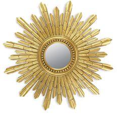 1940 S French Gilded Starburst Mirror With Mirror Insert
