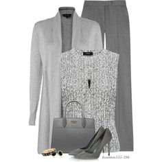 Shades of Grey by houston555-396 on Polyvore featuring moda, Phase Eight, Theory, STELLA McCARTNEY, Sergio Rossi, Prada, Fornash, Trina Turk and Alexis Bittar