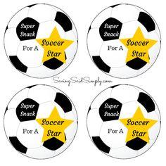 Soccer snack tag printable