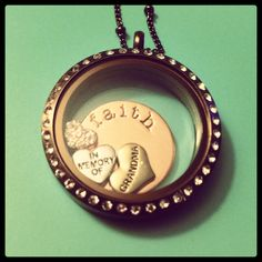 Origami Owl custom locket idea. In memory of a loved one, heart charm necklace. Has a loved one passed away? http://elizabethferree.origamiowl.com/how-to-build/