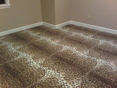 Carpet style, Skins in Leopard pattern installed wall to wall in a client's guest bedroom