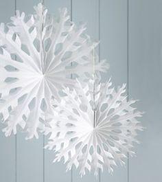 Hanging Paper Snowflake Decoration