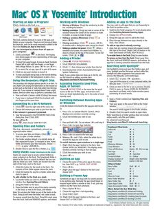 Mac OS X Yosemite Introduction Quick Reference Guide (Cheat Sheet of Instructions, Tips & Shortcuts - Laminated Guide): Beezix Inc: 9781939791375: Amazon.com: Books