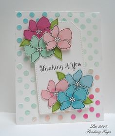 Lovely card created by Lin for the Simon Says stamp Wednesday challenge (Color inspiration)