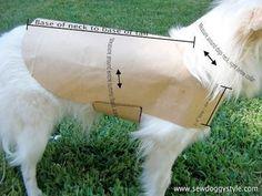 Sew DoggyStyle: DIY Pet Coat Pattern/tutorial so you can whip off dog coats etc. Dog Clothes Patterns, Coat Patterns, Sewing Patterns, Crochet Patterns, Sewing Hacks, Sewing Crafts, Sewing Tips, Diy Pet, Diy Dog Bag