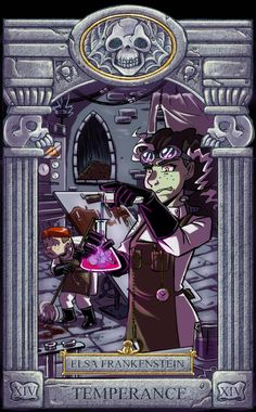 Ghoul School Tarot: Temperance by on DeviantArt Old Cartoons, Disney Cartoons, Character Sheet, Character Art, Ghoul School, Scary Shows, Scooby Doo Movie, Scooby Doo Mystery Incorporated, Monster School
