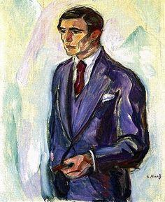 Leopold Wondt,1916 by Edvard Munch