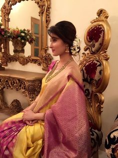 Simple Saree Look for Friends Wedding . 13 Simple Saree Look for Friends Wedding Picture. What to Wear to Your Best Friend S Sangeet and Mehendi Check more at Desi Wedding, Saree Wedding, Bridal Lehenga, Wedding Wear, Wedding Makeup, Wedding Bells, South Indian Bride, Indian Bridal, Wedding Guest Looks
