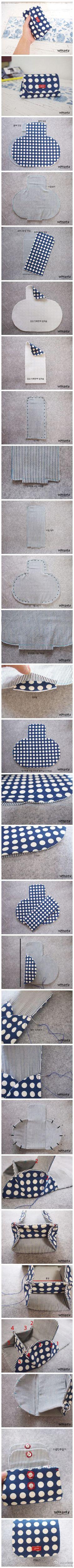 DIY dot fabric bags