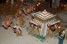 Desierto 4 Christmas Village Display, Christmas Nativity Scene, Christmas Toys, Christmas Deco, Christmas Carol, Xmas, Fontanini Nativity, Egyptian Party, Ceramic Houses
