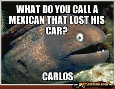 Bad Joke Eel - what do you call a mexican that lost his car?