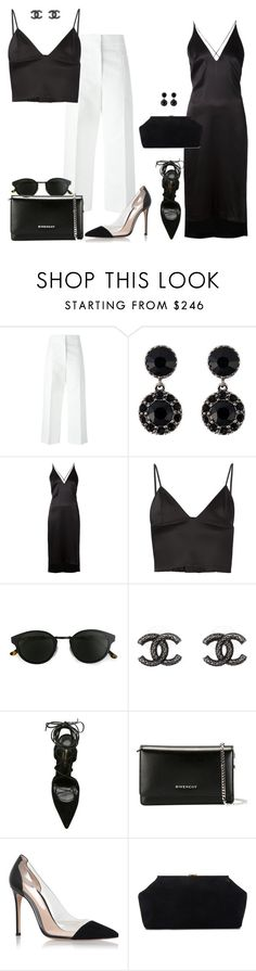 """BLACK & white Formal"" by kwasheretro on Polyvore featuring Marni, Givenchy, Dion Lee, T By Alexander Wang, RetroSuperFuture, Chanel, Yves Saint Laurent, Gianvito Rossi and Mansur Gavriel"