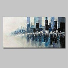 Pintados à mão Abstrato Paisagem Horizontal, Modern Tela de pintura Pintura a Óleo Decoração para casa 1 Painel de 2018 por $78.5
