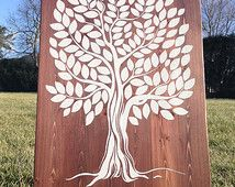 Wood Wedding Guestbook - Rustic Tree wood - Wedding guest book - Wedding guestbook tree - Unique Tree guestbook- Weddings- Wedding gift idea