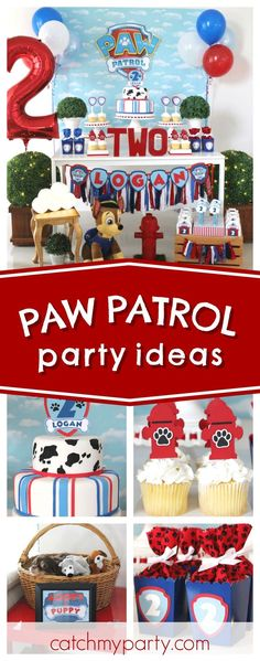 Check out this awesome Paw Patrol Paw-ty!! The dessert table is so cool!! See more party ideas and share yours at CatchMyParty.com #ad