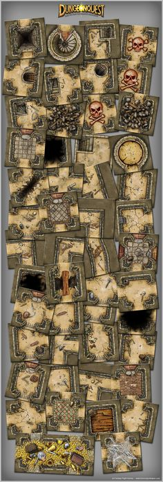 Dungeonquest board by henning.deviantart.com on @DeviantArt