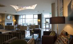 Beautifully decorated lobby of The Harbour Hotel, Galway