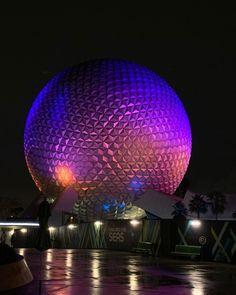 @PixieKristinZ posted to Instagram: Spaceship Earth on a raining evening  #waltdisneyworld #disneyparks #Spaceshipearth #pixiekristin #Disney #Epcot  #disneyworld #travel