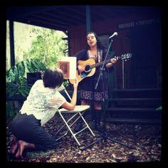 Lindsey singing a beautiful song and Chelsea holding the lyrics! www.floridaschoolofmassage.com