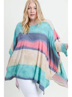 """Groovin' on Sunday Afternoon"" Plus Size Top Boho Fashion, Fashion Jewelry, Modern Boho, Plus Size Tops, Stripe Print, Sunday, Tunic Tops, Apple, Lace"