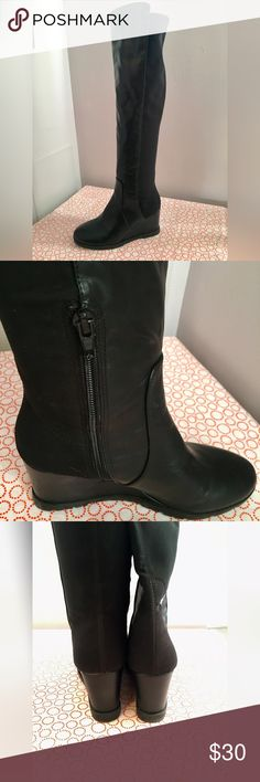 Over The Knee Boots Only worn once. True to size. Made for slim calves. Shoes Over the Knee Boots