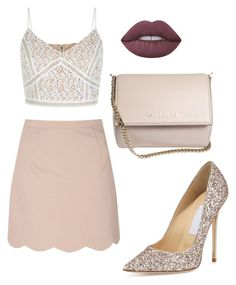 """Untitled #93"" by danielaprzhrtd on Polyvore featuring Glamorous, Jimmy Choo, Lime Crime and Givenchy"