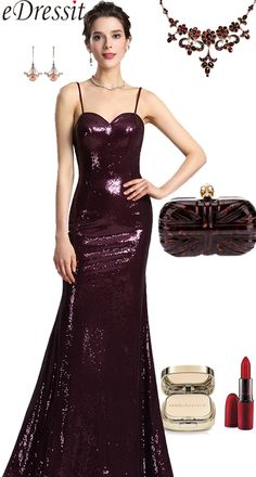 8be3eb38e94 2018-2019 Spaghetti Sequins Formal Party Evening Dress, Burgundy Prom Dress  #eDressit