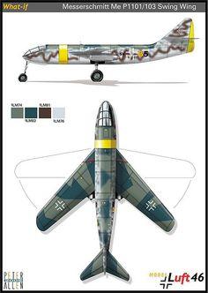 1946 Luft Messerschmit Me P1101-103 Swing Wing | Flickr - Photo Sharing!
