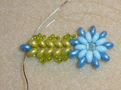 CHEEKYBEADS - SPRING is here! 2-hole bead bracelet or necklace tutorial   ~ Seed Bead Tutorials