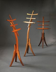 This hand crafted music stand is offered in three different woods and adjusts fo… This hand crafted music stand is offered in three different woods and adjusts for playing music while sitting or standing. Its sculptural design and hand … Music Stand, Guitar Stand, Small Woodworking Projects, Fine Woodworking, Barrel Projects, Wood Projects, Dulcimer Music, Music Furniture, Steam Bending Wood