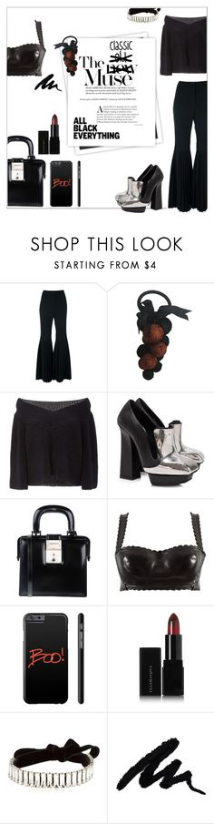 """Classic Muse"" by onenakedewe ❤ liked on Polyvore featuring STELLA McCARTNEY, GALA, Sally Lapointe, Alexander McQueen, Dsquared2, Alaïa, Illamasqua, Giuseppe Zanotti, allblack and platformshoes"
