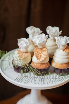 Cupcakes by http://SweetToothConfections.net on http://www.StyleMePretty.com/california-weddings/2014/03/26/rustic-organic-wedding-ideas/ RetrospectImages.com on #SMP