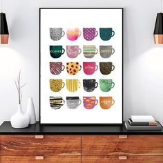 Colorful Coffee Cups Wall Art Canvas Posters Modern Nordic Abstract Art Paintings For Kitchen. Colorful Coffee Cups Wall Art Canvas Posters Modern Nordic Abstract Art Paintings For Kitchen Cafe Coffee Shops and Home Decor, Dining Room Wall Art, Kitchen Wall Art, Kitchen Dining, Kitchen Modern, Bathroom Wall, Kitchen Ideas, Kitchen Decor, Canvas Art Prints, Canvas Wall Art