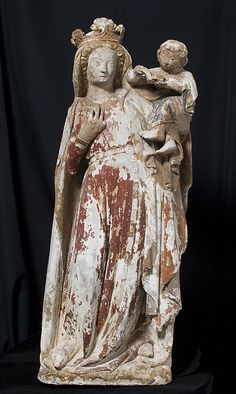Standing Virgin and Child, 14th-15th century