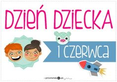 Dzień Dziecka - plakat - Printoteka.pl Child Day, Family Guy, Education, School, Children, Funny, Poster, Fictional Characters, Young Children