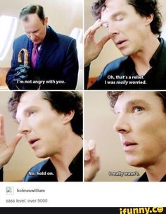 #rekt yeah Mycroft think twice before the next time you want to actually be concerned with Sherlock's well being HAH