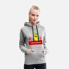 Granate T-Shirt Frauen Frauen Premium Hoodie T Shirt Designs, Sweat Shirt, Apres Ski Party, Funky Design, Party Shirts, White Hoodie, Outfit, Hooded Jacket, Sportswear