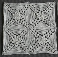 "Ravelry: Pretty Petals - 12"" square pattern by Melinda Miller"