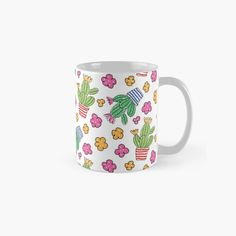 Pink Yellow, Yellow Flowers, Unique Coffee Mugs, Painted Pots, Canvas Prints, Art Prints, Cacti, Color Patterns, Finding Yourself