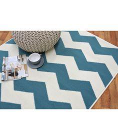 buy chevron rug 120x170cm teal at argoscouk your online